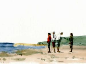 «Marrée basse au Moulleau»nu°56