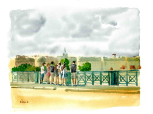 Façade sur le pont